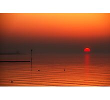 Minnis Bay Sunset Photographic Print