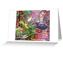 """what's up in the garden"" Greeting Card"