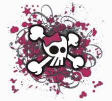 Girly Skull & Crossbones by Roseanne Jones