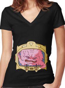 krang Women's Fitted V-Neck T-Shirt