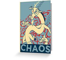 CHAOS Greeting Card