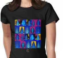 """""""Modern Christmas Trees""""© Womens Fitted T-Shirt"""