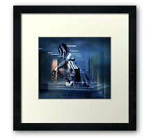 AWAITING THE DEATH OF CORPORATE GREED Framed Print