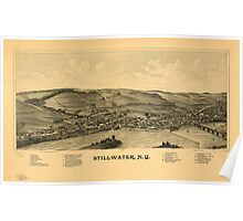 Panoramic Maps Stillwater NY Poster