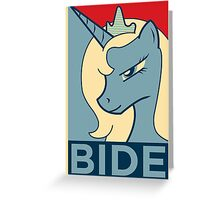 BIDE Greeting Card