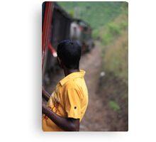 Train travel in Sri Lanka Canvas Print