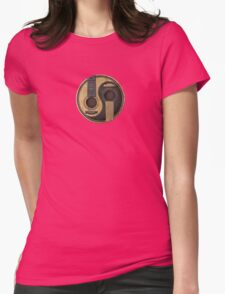 Old and Worn Acoustic Guitars Yin Yang Womens Fitted T-Shirt