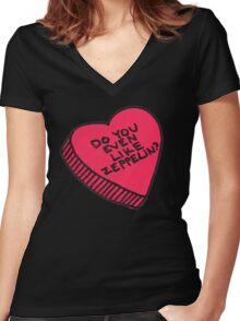 do you even like zeppelin? Women's Fitted V-Neck T-Shirt
