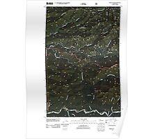 USGS Topo Map Washington State WA Indian Pass 20110510 TM Poster