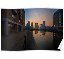 Canary Wharf Sunrise Poster