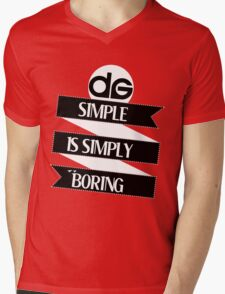 Simple is Simply Boring (On Black) Mens V-Neck T-Shirt
