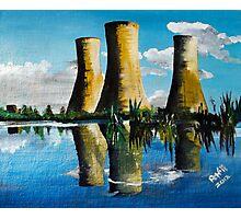 Richborough Power Station {Sandwich} Kent. Photographic Print