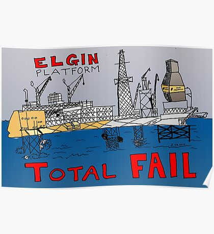 TOTAL FAIL - Epic Binary Options News Cartoon Poster