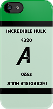 Avengers - Monopoly - Incredible Hulk by amanoxford