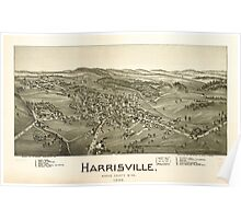 Panoramic Maps Harrisville Ritchie County W Va 1899 Poster