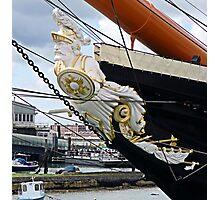 HMS Warrior figurehead Photographic Print