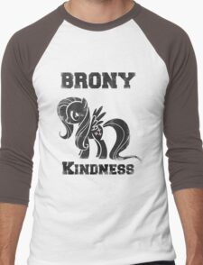 BRONY Fluttershy Men's Baseball ¾ T-Shirt