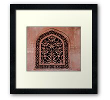 Flower Grill Work Framed Print