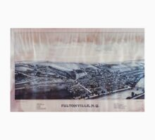 Panoramic Maps Fultonville NY Kids Tee