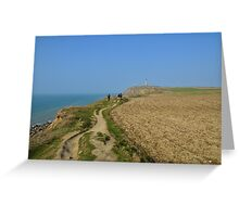 Hiking on the cliffs in Nord-Pas-de-Calais Greeting Card