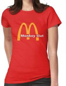 Monkey Slut Is Blown Womens Fitted T-Shirt