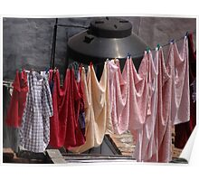 Drying Laundry with Tinaco - Ropa secando con Tinaco Poster