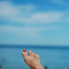 my feet, on holiday by mellychan
