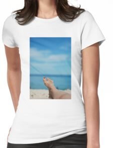 my feet, on holiday Womens Fitted T-Shirt