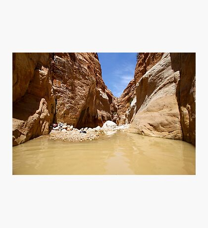 Wadi Zered (Wadi Hassa or Hasa) in western Jordan. Photographic Print