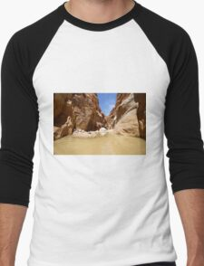 Wadi Zered (Wadi Hassa or Hasa) in western Jordan. Men's Baseball ¾ T-Shirt