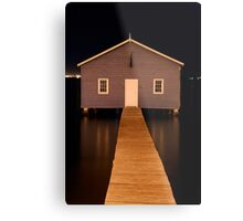 little boatshed on the river Metal Print
