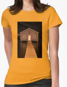 little boatshed on the river Womens Fitted T-Shirt
