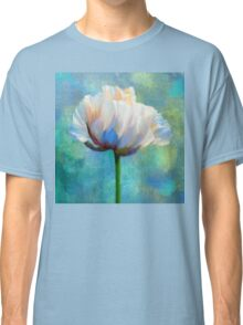 Plein Air Au Printemps poppy flower floral art Classic T-Shirt