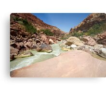 Wadi Zered (Wadi Hassa or Hasa) in western Jordan. Metal Print