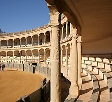 The Ronda bullring or bullfighting arena by Cláudia Fernandes
