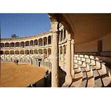 The Ronda bullring or bullfighting arena Photographic Print