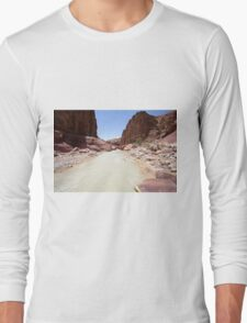 Wadi Zered (Wadi Hassa or Hasa) in western Jordan Long Sleeve T-Shirt