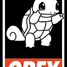OBEY Squirtle by Royal Bros Art