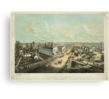 Panoramic Maps Oshkosh Wis From HL Cottrill's Block lith published by Kurz Seifert Milwaukee Wis ; drawn after nature by L Kurz 2 Canvas Print
