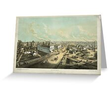 Panoramic Maps Oshkosh Wis From HL Cottrill's Block lith published by Kurz Seifert Milwaukee Wis ; drawn after nature by L Kurz 2 Greeting Card