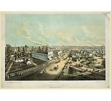 Panoramic Maps Oshkosh Wis From HL Cottrill's Block lith published by Kurz Seifert Milwaukee Wis ; drawn after nature by L Kurz 2 Photographic Print