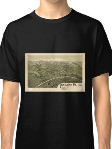 Panoramic Maps Pitcairn Pa Allegheny County 1901 Classic T-Shirt