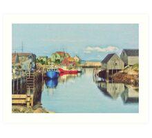 Peggys Cove Village Nova Scotia Canada Art Print