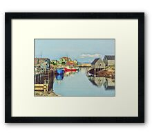Peggys Cove Village Nova Scotia Canada Framed Print
