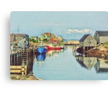 Peggys Cove Village Nova Scotia Canada Canvas Print