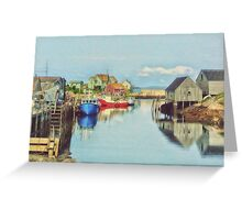 Peggys Cove Village Nova Scotia Canada Greeting Card