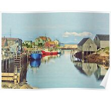 Peggys Cove Village Nova Scotia Canada Poster