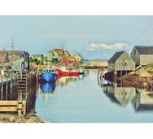 Peggys Cove Village Nova Scotia Canada Photographic Print