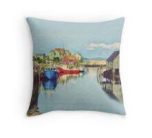 Peggys Cove Village Nova Scotia Canada Throw Pillow