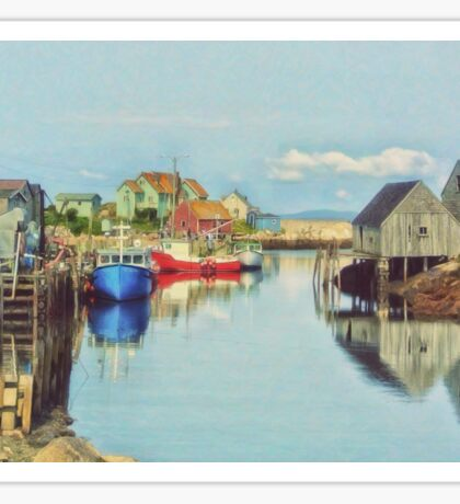 Peggys Cove Village Nova Scotia Canada Sticker